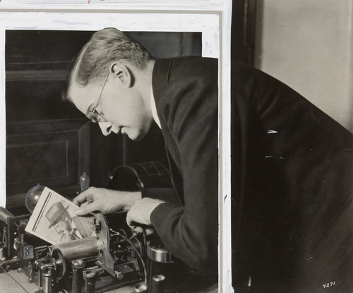 Richard Ranger with the  wireless facsimile system