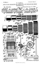 Thaddeus Cahill's patent documents for the first Telharmonium 1896