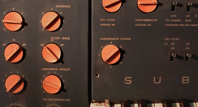 Detail of the Subharchord control panel.