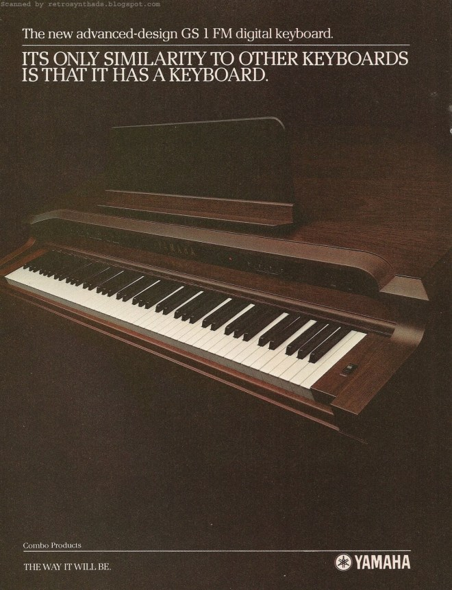Advert for the GS1 in 1982