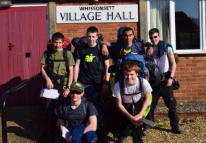 1220 cadets at the start of their expedition.