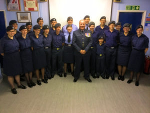 Wing Commander Bower with the Cadets