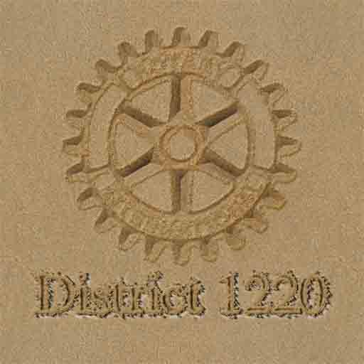 District 1220 in the sand logo s