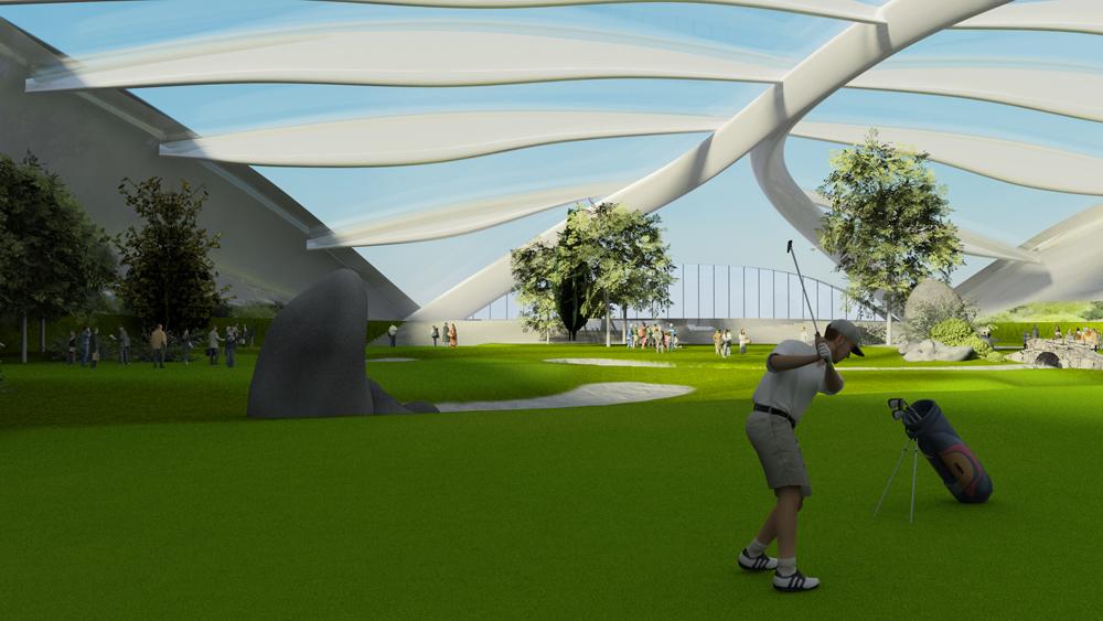 Golf Range Amp Tennis Court Jeju Resort