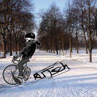 Fahrradfahren im Winter in meiner Kolumne Januar für den Frei(e) Bürger