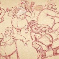 Sketch of the Day: Sexy Weihnachtsmänner