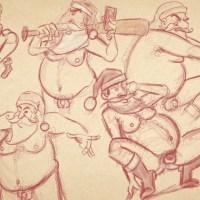 Sketch of the Day: Sexy Weihnachtsmänner