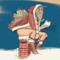 Sketch of the Day: Weihnachtsmann scheißt in den Kamin