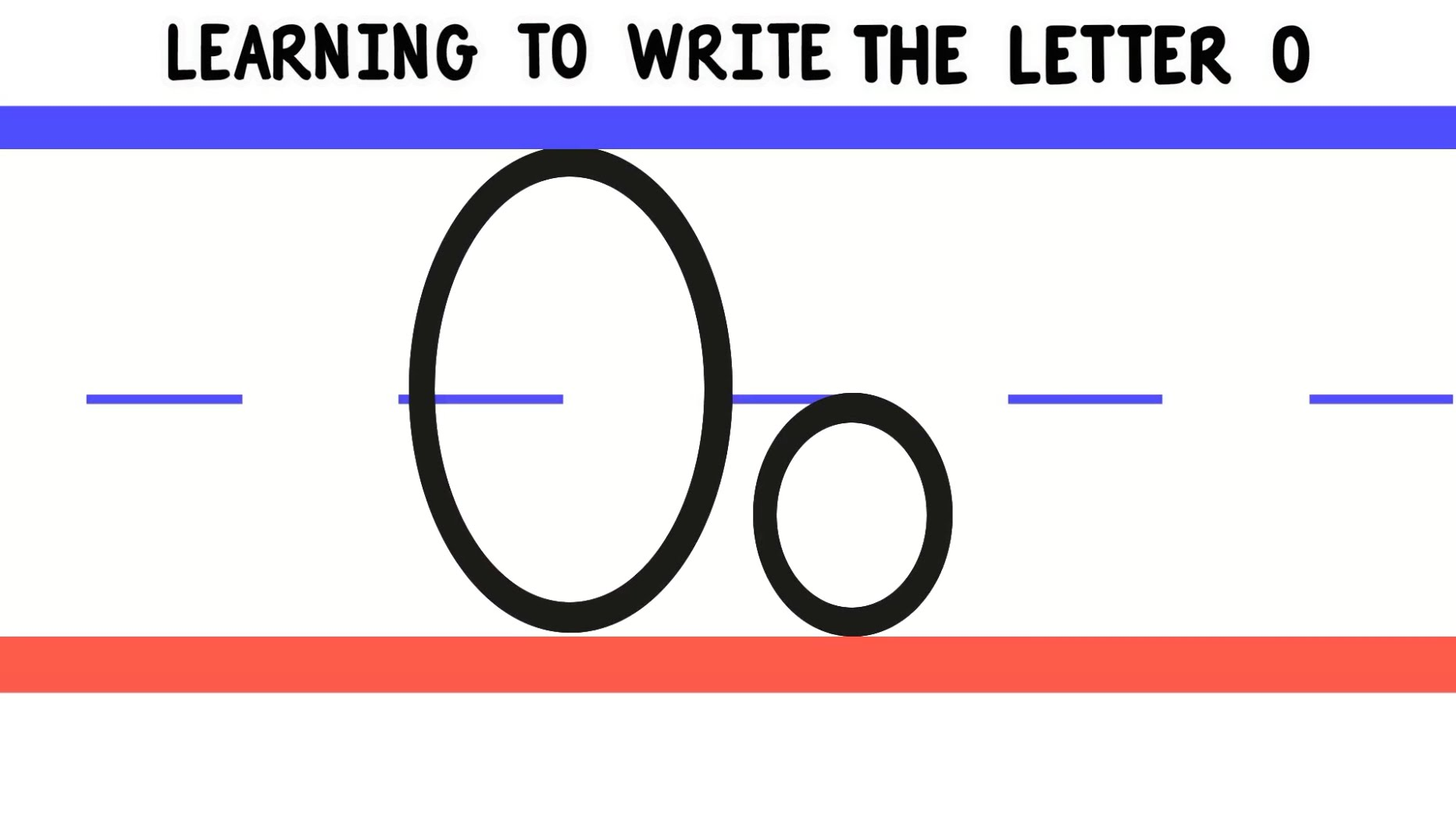 Write The Letter O