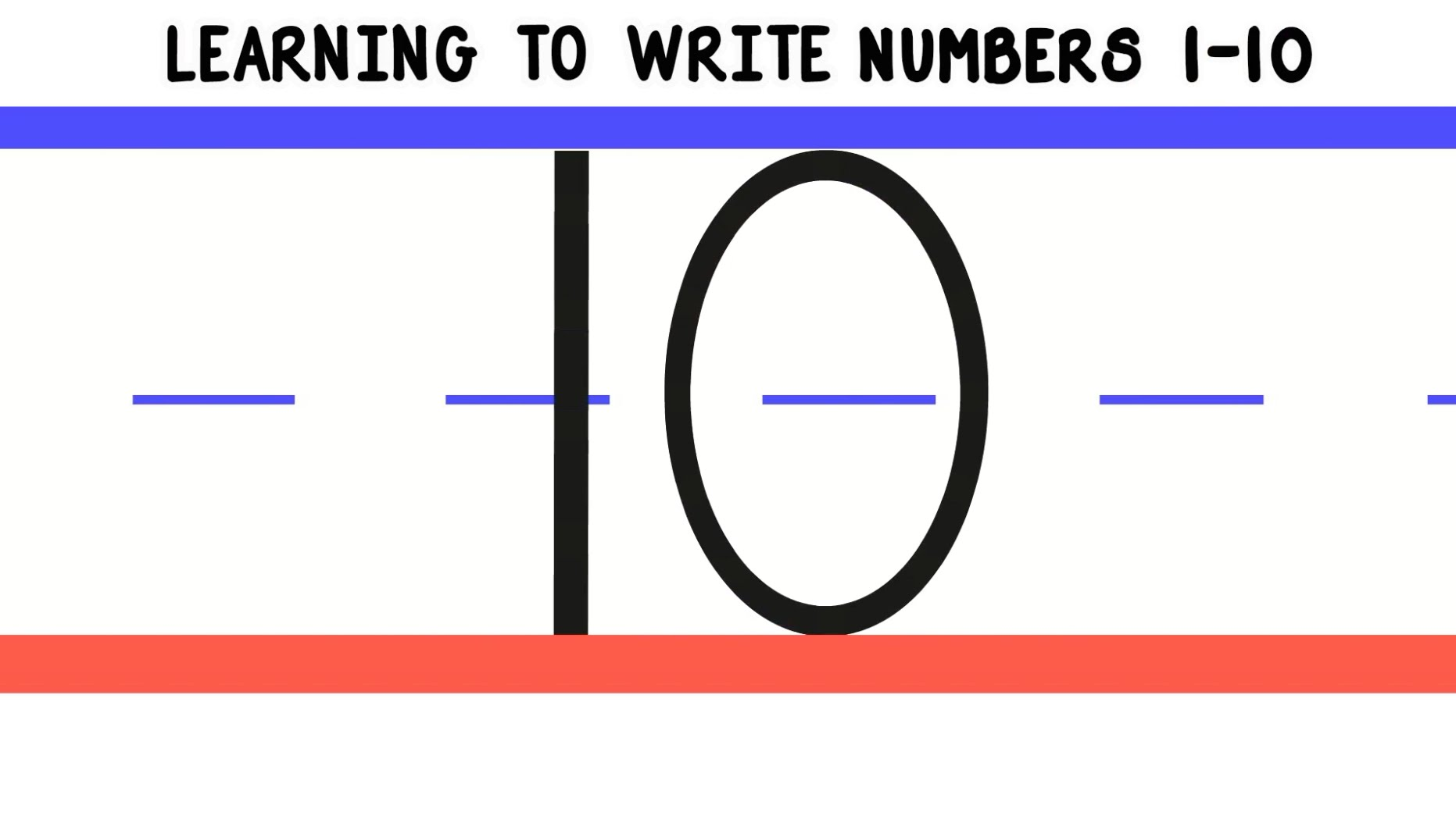 Learning To Write Numbers 1 10