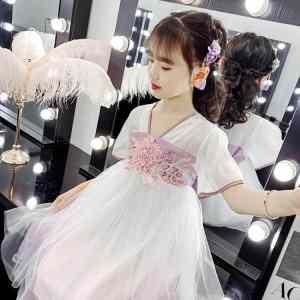 Kinderkleding Meisjes Pluizige Garenjurk (Kleur: Paars Maat: 150cm)