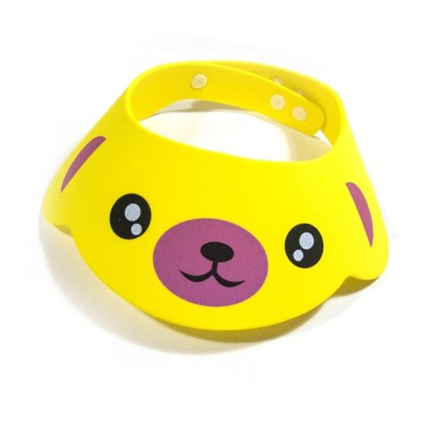 2 PCS Baby Kids Cap Douchecap Baby Bad Cap Douche Pet Pet Visor Kids Bath Wash Hair Shield Hat (Gele hond)