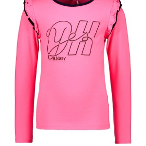 B.Nosy Meisjes shirt 'Oh B.Nosy' - Knock out roze