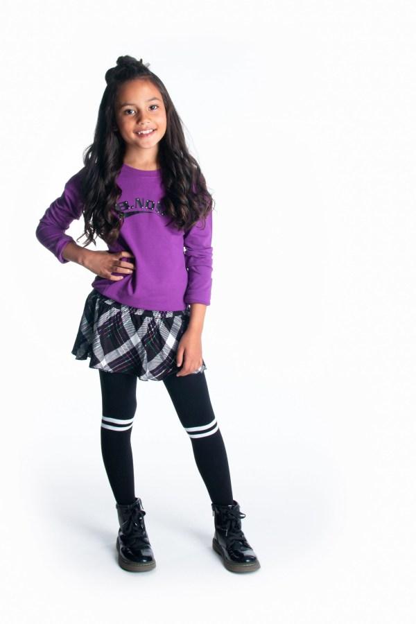 B.Nosy Meisjes sweater 'B.Nosy' - Sparkling grape