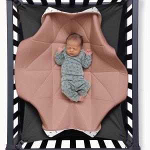 Hangloose Baby - Babyhangmat / Boxkleed - Pinky Feather Roze