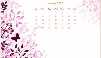 January 2020 Calendar Wallpaper for Desktop