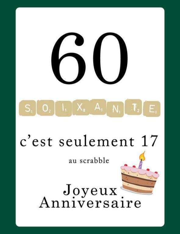 texte joyeux anniversaire 60 ans