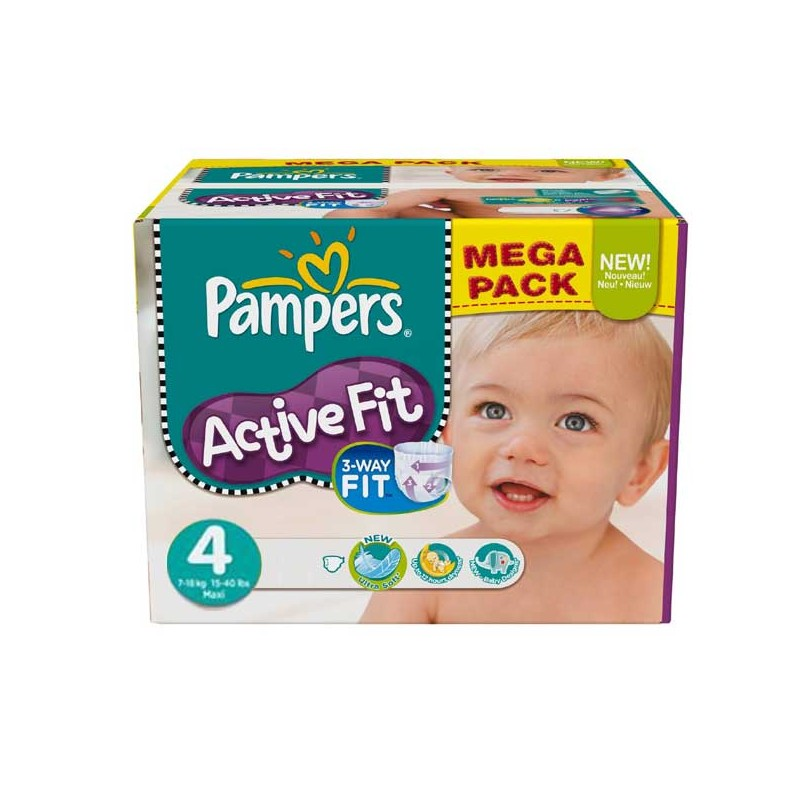 Couches Pampers Active Fit Taille 4 En Solde 273 Couches