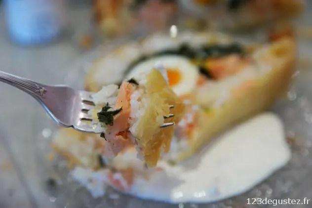 koulibiac moelleux au saumon et citron confit