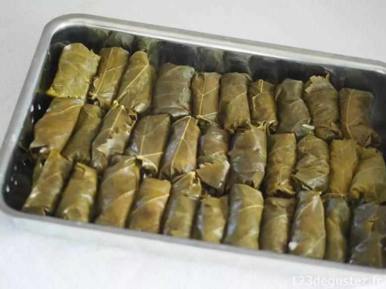 feuille de vigne farcie - dolmadakia