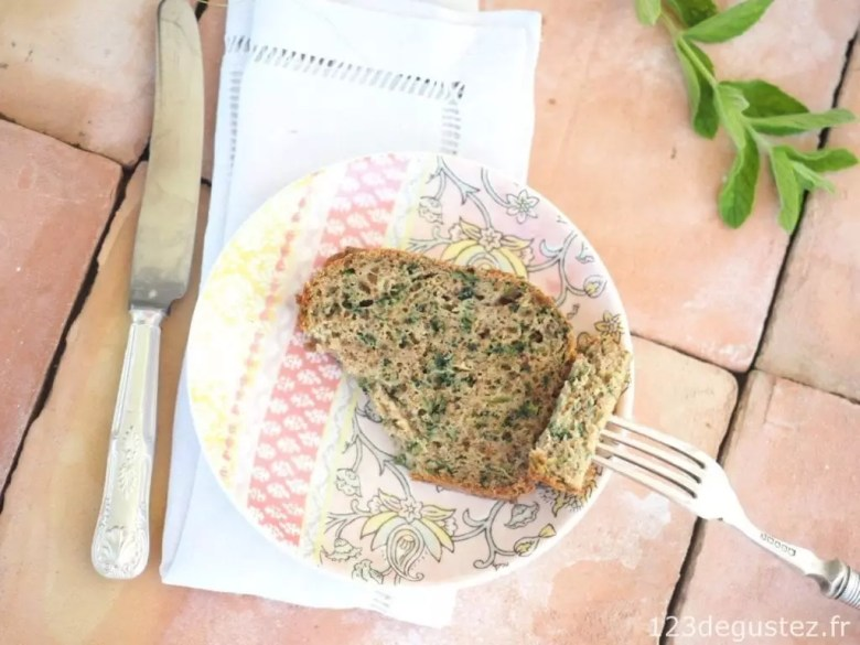 cake courgette menthe
