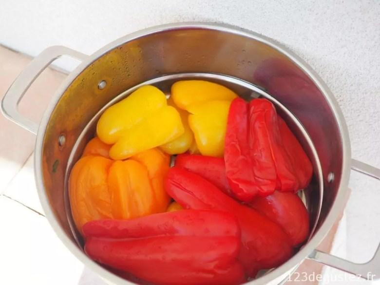 cuisson poivron vapeur