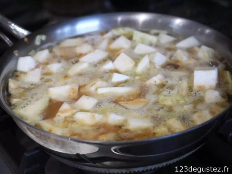 Soupe céleri rave au miel