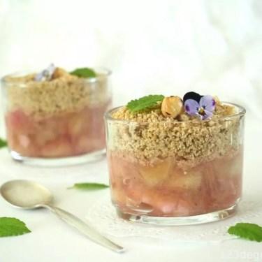 crumble de rhubarbe