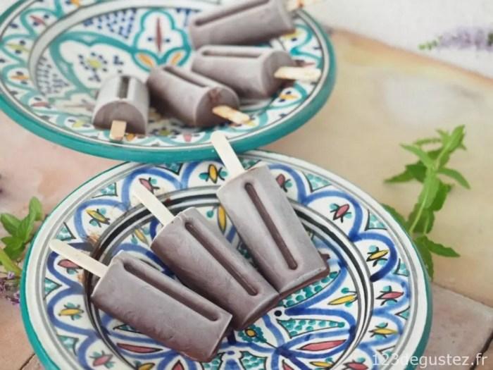 sorbet chocolat menthe
