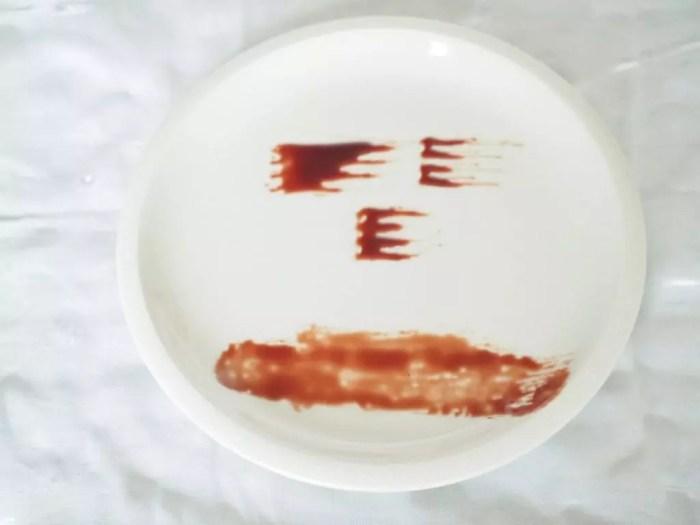 décoration d'assiette
