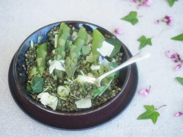 salade de lentlles au cresson