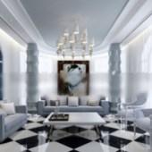 Mediterranean Living Room 3dMax Model