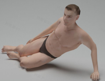 Male Nude Character Free 3dmax Model Free Download - No215