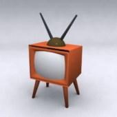 Vintage Tv Free 3dmax Model