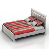 Red Double Bed