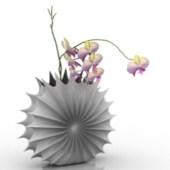 Camellia Porcelain Teeth Flower Pot