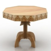 Design Octagonal Wooden Table