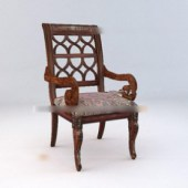 Retro Style Wooden Chair