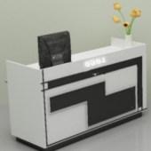 Front Desk Cabinet Free 3dmax Model