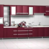 Pure Red Cabinets
