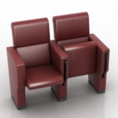 Leather Chair with Stand