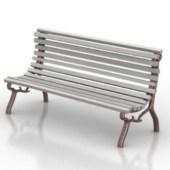 Silver Bench Free 3dmax Model