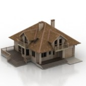 Brown Villa Free 3dmax Model
