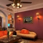 Red Living Room Design 3dsMax Model