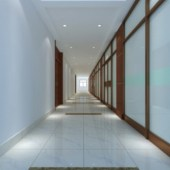 Office Corridor Interior Design Free 3dmax Model