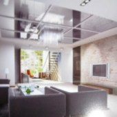 Beautidul 3dMax Scene Living Room