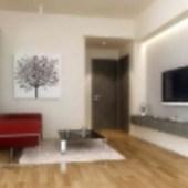 Simple Modern Small Living Room  Scene