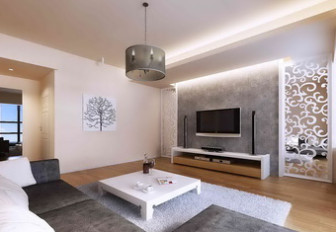 Fresh Living Room Interior 3dmax Model Scene