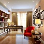 Modern Cozy Study ROom Scene
