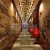 Chinese Antiquity Corridor Free 3dmax Model